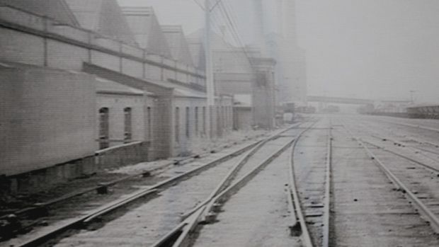 The former Goods Line as it used to be.