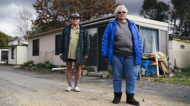 Canberra South Motor Park residents  Bruce Best and Kaye Saunders are concerned about their future tenancies.
