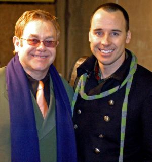Elton John and his husband David Furnish in Venice.