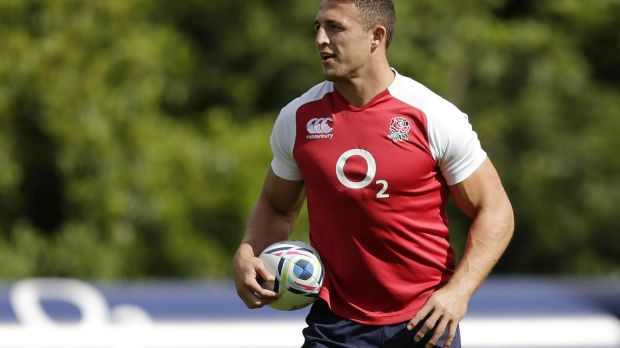 Sam Burgess during training on Tuesday.