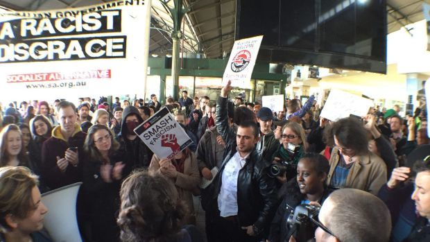Protesters took to Melbourne's CBD streets.