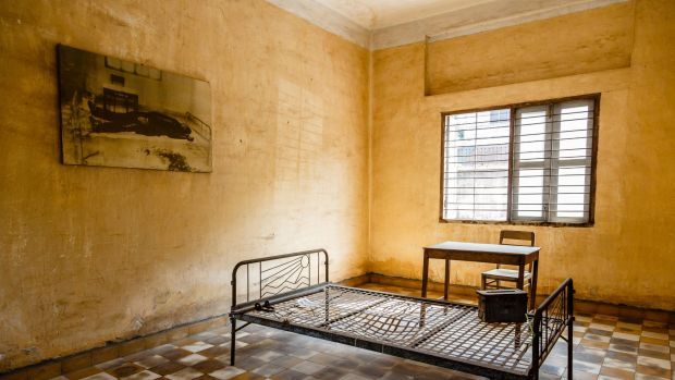 Tuol Sleng prison, where Khmer Rouge interrogated and murdered prisoners, in Phnom Penh, Cambodia.