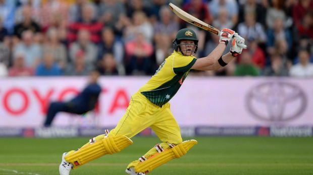 Swashbuckling ... Steve Smith hit 90 off 52 in a brilliant innings.