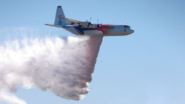 A Hercules C130 tanker nicknamed Thor is on loan to the NSW Rural Fire Service to help with what is predicted to be a ...