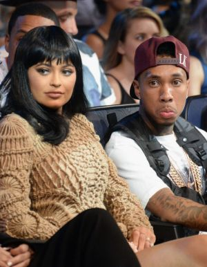 Kylie Jenner and Tyga at the 2015 MTV Video Music Awards on August 30, 2015 in Los Angeles, California.