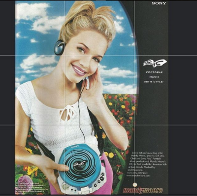 """Mandy Moore shared this throwback on Instagram: """"Guys! Remember how cool discmans were?!?! My first professional photo ..."""
