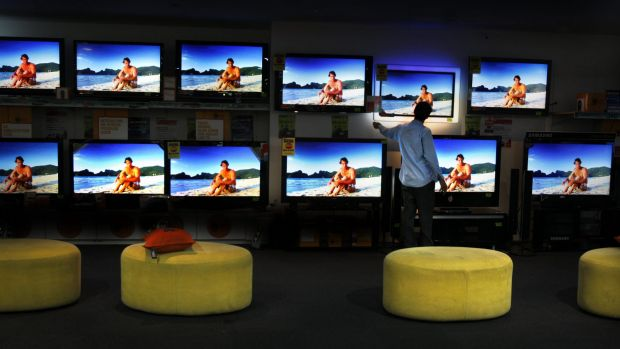 The UK charges every household with a television set annual fees of £147.