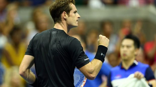 Powering on: Andy Murray.