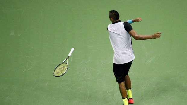 Take that: Tennis Australia has shown Nick Kyrgios that his behaviour has consequences.