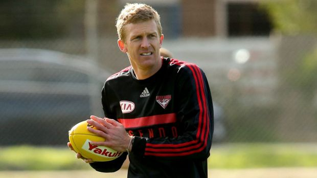 Dustin Fletcher's teenage son Mason is training with Essendon.