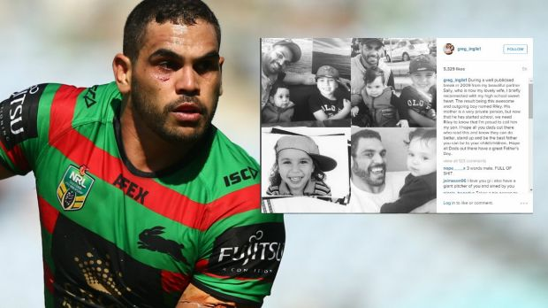 Making an announcement: Greg Inglis.