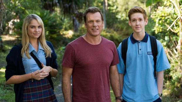 Erik Thomson (centre) says he was relieved with the choice of actors Melina Vidler, left, and Benson Jack Anthony to ...