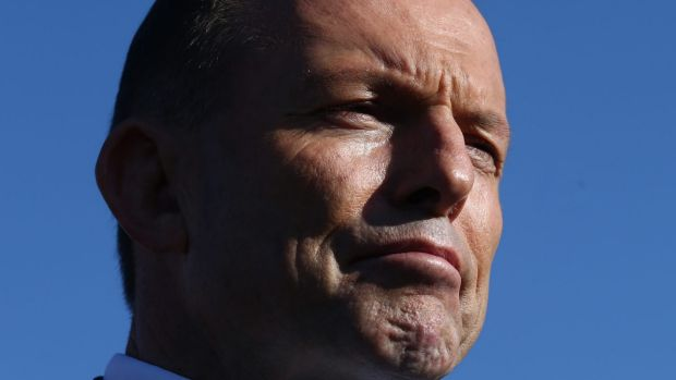 Prime Minister Tony Abbott during a press conference after he visited a small business breakfast at Pialligo Estate ...