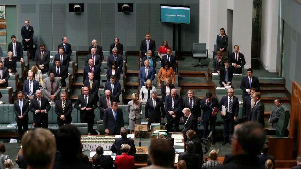 The House of Representatives observes a moment of silence on Monday.