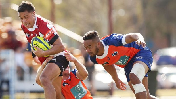 Canberra Vikings winger Jerome Niumata in action against the Greater Sydney Rams last weekend.