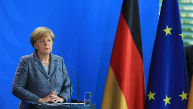 Angela Merkel announced the nation was reallocating up to $9.6 billion to deal with the influx of migrants.