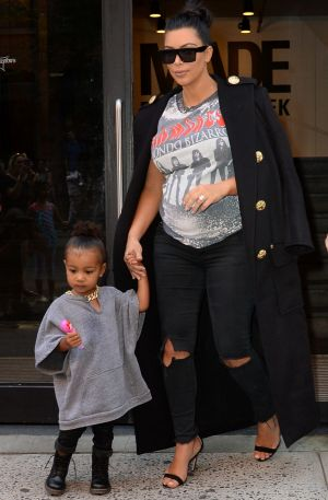 Kim suffered from pre-eclampsia during her pregnancy with daughter North, now two.
