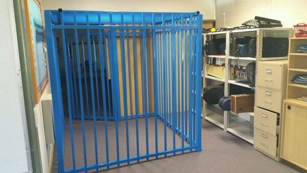 Human Rights Watch have condemned a decision to build this cage for a 10-year-old autistic student.