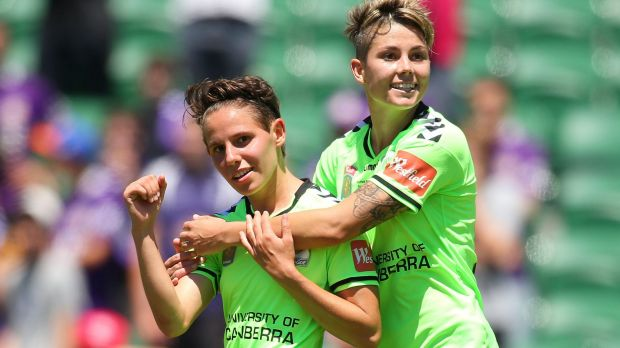 Canberra United duo Ashleigh Sykes and Michelle Heyman have been caught up in the Matildas' pay dispute with the FFA.