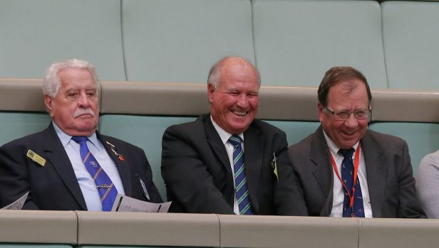 Mr Windsor is welcomed by the Speaker during Question Time on Wednesday.