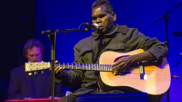 Gurrumul playing at Arts Centre Melbourne in August, 2015. He has battled chronic illness for years.