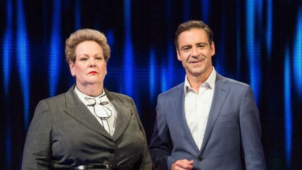 Anne Hegerty and Andrew O'Keefe have to keep a straight face on The Chase Australia, but in the British version, the ...