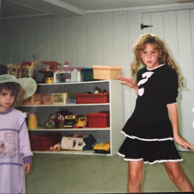 Amy Schumer shared this throwback to a childhood bedroom dance party on Instagram.