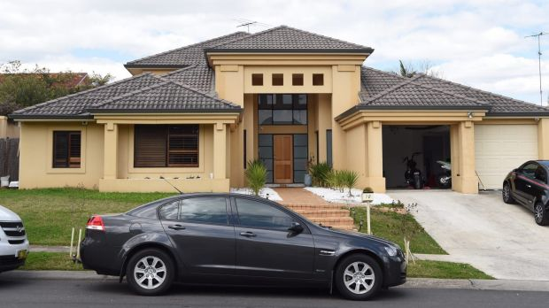 Police raided this house in Kellyville on Thursday.