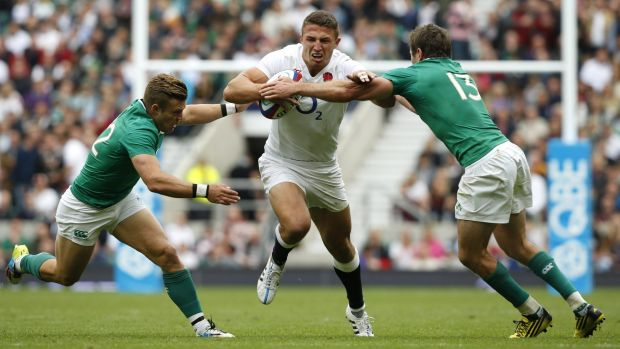 Sam Burgess is finding his feet in England's backline.