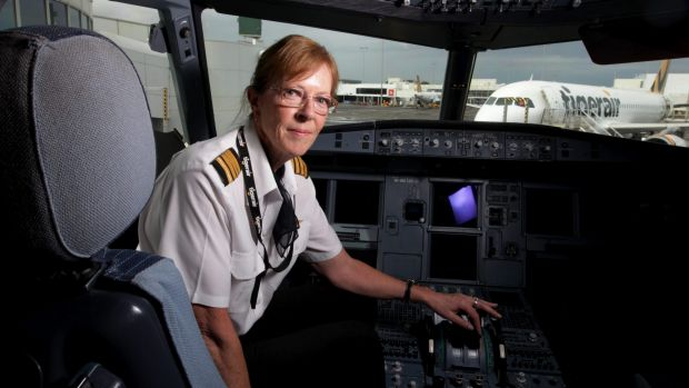 Captain Deborah Lawrie, who was the first female commercial pilot in Australia in 1979, now flies for Tigerair Australia.