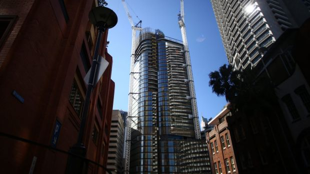 200 George Street has been topped out as the leasing market shows improvement.