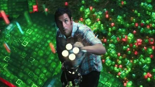 Nominated for a Worst Picture Razzy: Adam Sandler fights off arcade game aliens in the family film <i>Pixels</i>, which ...