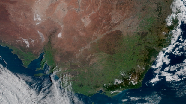 Near cloudless skies seen over south-eastern Australia on Friday morning.