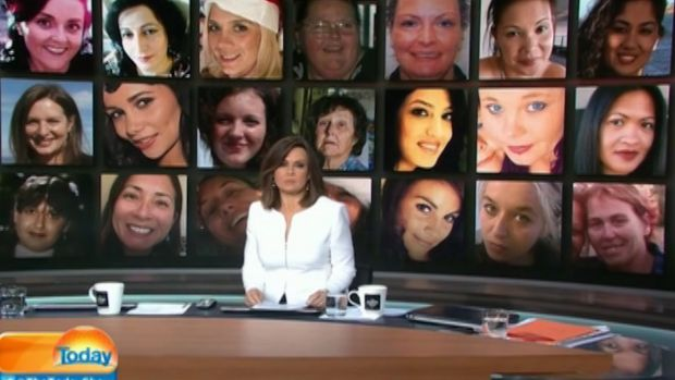With a montage of some of the 62 women killed since January on screen behind her, Lisa Wilkinson speaks out on the ...