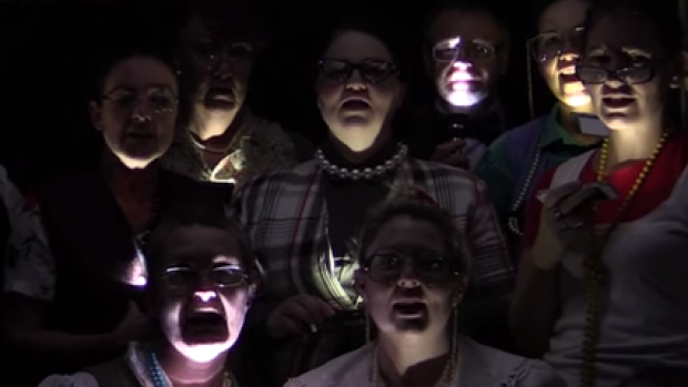 Open your eyes: the librarians channel the beginning of Queen's Bohemian Rhapsody ... 'We wanted an anthem.'