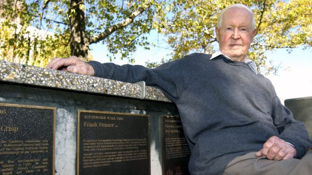 Recognised: Professor Frank Fenner, who died in 2010.