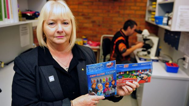 Asbestos Council of Victoria chief executive Vicki Hamilton holds grave concerns after asbestos testing of crayons.