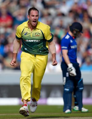 John Hastings savouring his time in green and gold against England on Sunday.