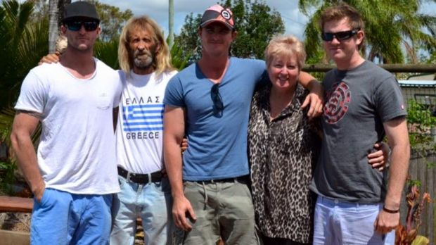 John Edwards with his wife Sharon Edwards with their sons.
