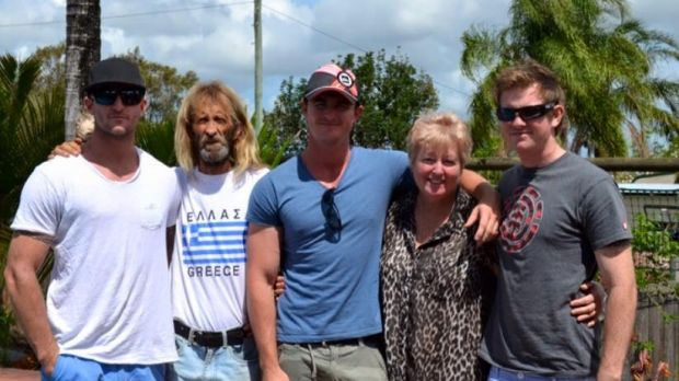 John Edwards with his wife Sharon Edwards and their sons.
