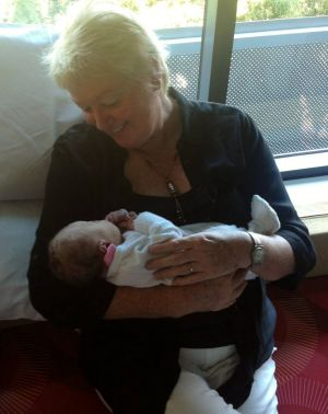 Missing teacher Sharon Edwards with her granddaughter.