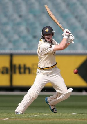Cameron Bancroft batting for Western Australia against Victoria last year.