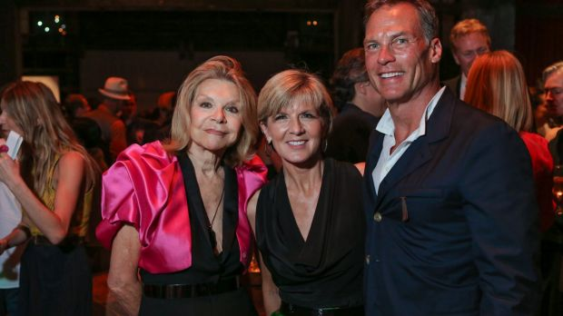 Carla Zampatti with Julie Bishop and David Panton at the Sydney Dance Company's annual Dance Noir.