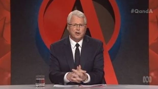 Q&A host Tony Jones delivered the news of Prime Minister Tony Abbott falling to Malcolm Turnbull in a Liberal Party ...