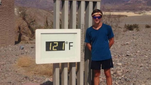 Tragedy: Jonathan Crowden, 21, was killed during a holiday in the US. He is believed to have been struck by lightning.