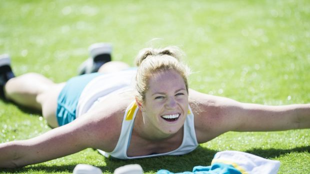 Sport Swimming camp for athletes at the AIS.   Emily Seebohm  15 September 2015 Photo: Rohan Thomson The Canberra Times