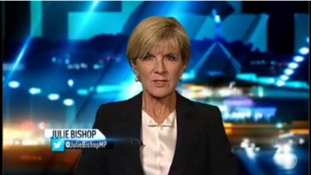 Julie Bishop on <i>The Project</i> on Tuesday night following Monday's coup.