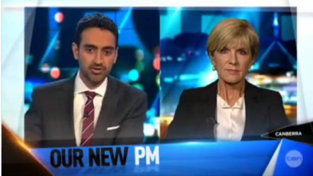 Waleed Aly grills Julie Bishop over her decision not to warn Tony Abbott as soon as Malcolm Turnbull told her he was ...