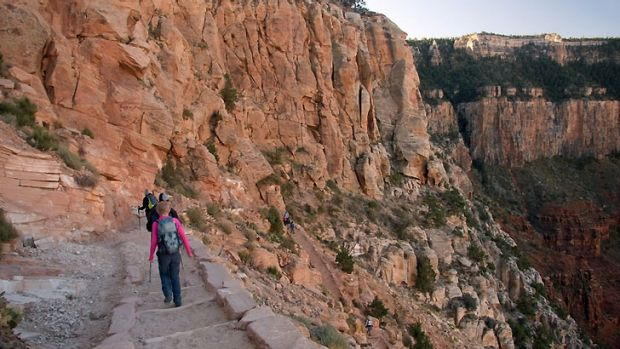 Part of the South Kaibab Trail in the Grand Canyon National Park.
