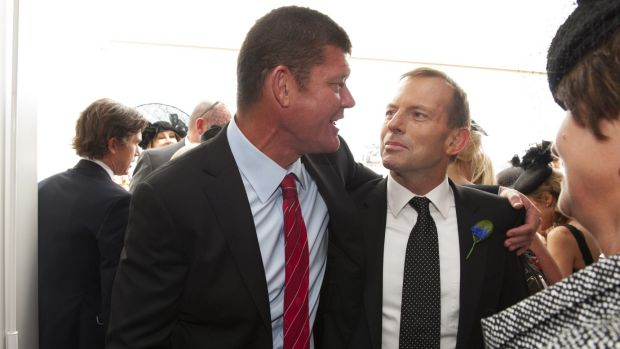 James Packer, pictured with former Liberal leader Tony Abbott in 2012.